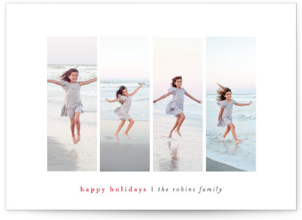 Modern Montage Christmas Photo Cards