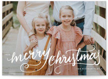 Winter Brush Christmas Photo Cards