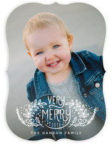 Very Merry Lettering Christmas Photo Cards