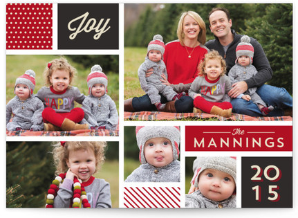 Holiday Collage Christmas Photo Cards