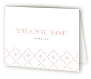 Vintage Handkerchief Baptism and Christening Thank You Cards