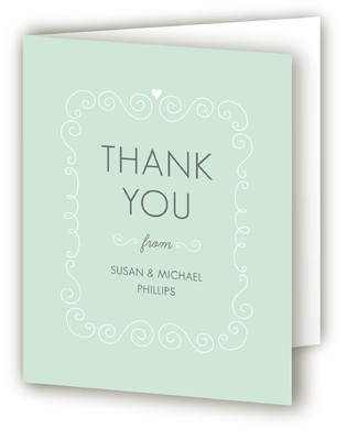Swirls & Curls Baptism and Christening Thank You Cards