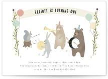 bears marching band Petite Children's Birthday Party Invitations