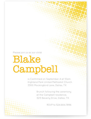 Shining Light Confirmation Invitations