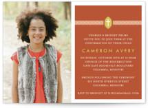Ribbon & Cross Confirmation Invitations