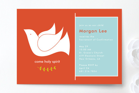 Come Holy Spirit Confirmation Invitations