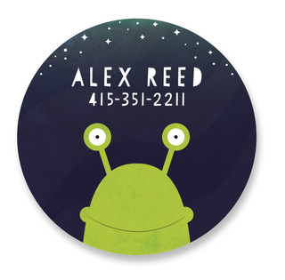 Little Alien Custom Name Label