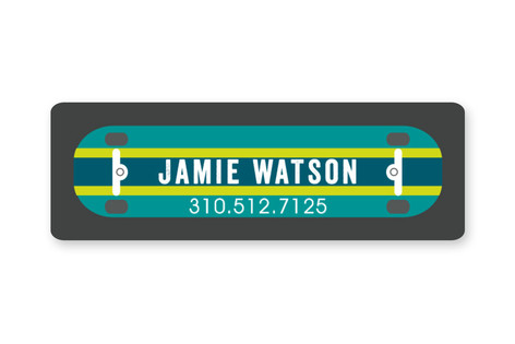 Half Pipe Custom Name Label
