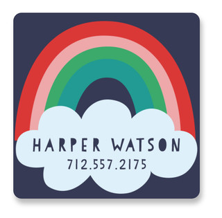 Pop of Color Custom Name Label