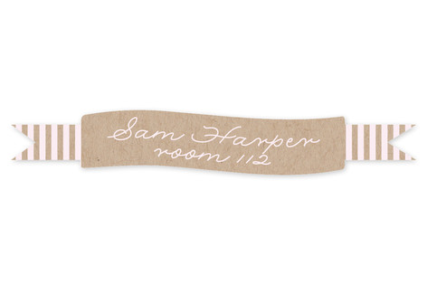 Simply Striped Custom Name Label