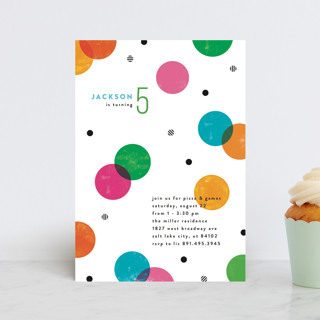 Colorful Confetti Children's Birthday Party Postcards