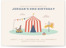 Off to Join the Circus Children's Birthday Party Postcards