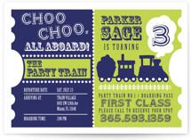 Choo Choo Train Children's Birthday Party Postcards