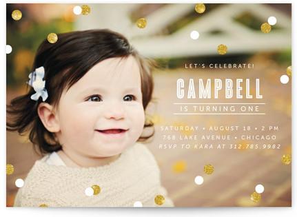 Confetti Children's Birthday Party Postcards