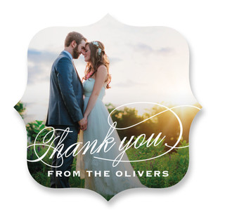 Modern Thank You Custom Stickers