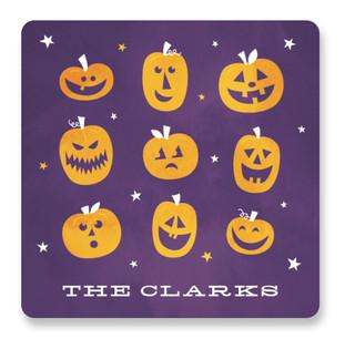 Pumpkin Party Custom Stickers