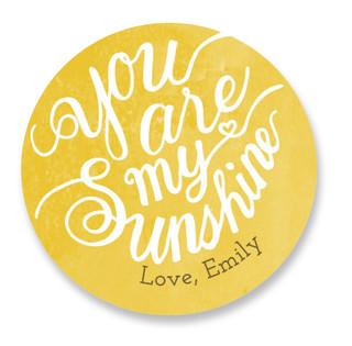 You Are My Sunshine Custom Stickers
