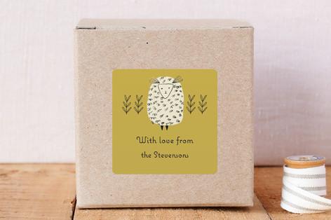 Baa Baa Cream Sheep Custom Stickers