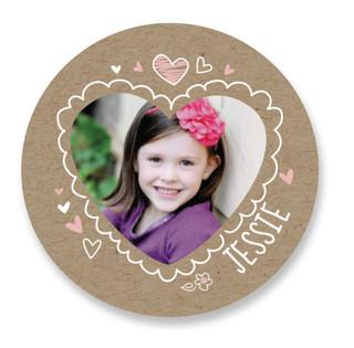 Doodle Valentine Custom Stickers