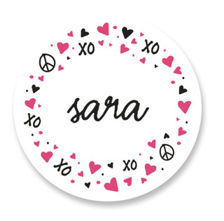 Lettered Heart Custom Stickers