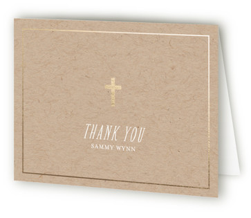 Communion Florals Foil-Pressed Confirmation Invitations Thank You Cards