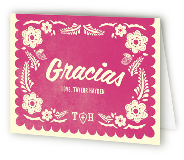 Papel Picado Children's Birthday Party Thank You Cards