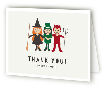 Little Monsters' Bash Children's Birthday Party Thank You Cards