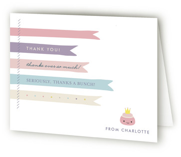 Teapography Party Children's Birthday Party Thank You Cards