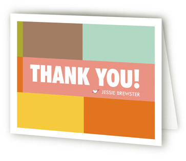 Mid-Mod First Facts Children's Birthday Party Thank You Cards