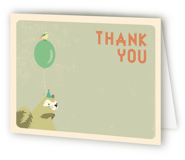 Woodland Celebration Children's Birthday Party Thank You Cards