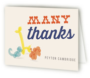 Party Animal Children's Birthday Party Thank You Cards