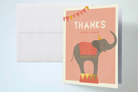 The Sweetest Circus On Earth! Childrens Birthday Party Thank You Cards