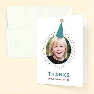 Party Hat Childrens Birthday Party Thank You Cards