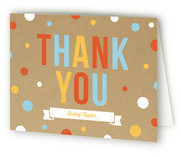 First Confetti Children's Birthday Party Thank You Cards