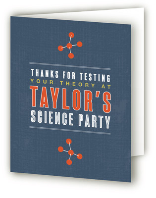 Science Children's Birthday Party Thank You Cards