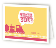 Choo Choo Train Childrens Birthday Party Thank You Cards