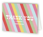 Circus Stripes Childrens Birthday Party Thank You Cards