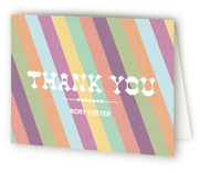 Circus Stripes Children's Birthday Party Thank You Cards