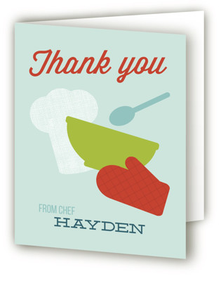 Baking Party Children's Birthday Party Thank You Cards