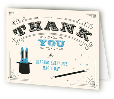 Magic Show Children's Birthday Party Thank You Cards