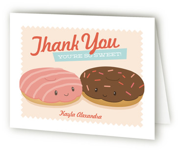 Donut Miss The Party Children's Birthday Party Thank You Cards