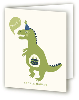 Cakeasaurus Dinosaur Children's Birthday Party Thank You Cards