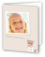 Rosie the Raccoon Children's Birthday Party Thank You Cards