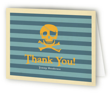 Pirate Party Children's Birthday Party Thank You Cards