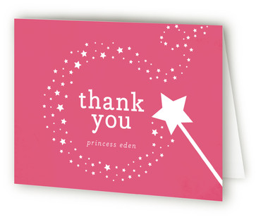 Little Miss Magic Children's Birthday Party Thank You Cards