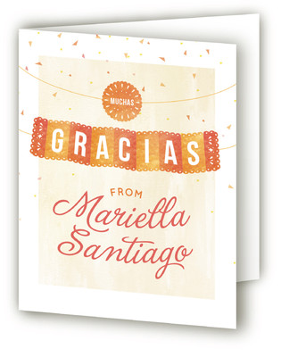 Fiesta Children's Birthday Party Thank You Cards