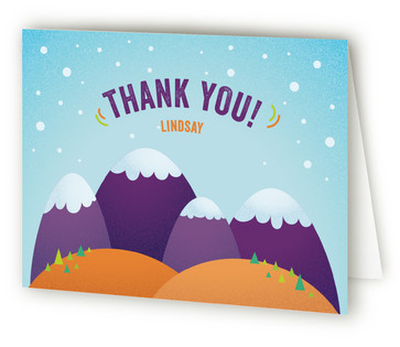 Brrrthday Princess Children's Birthday Party Thank You Cards