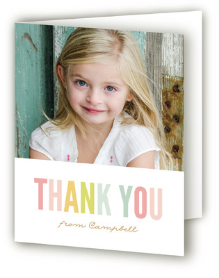 Candy Stripes Children's Birthday Party Thank You Cards