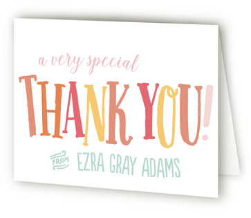 Fun & Games Children's Birthday Party Thank You Cards