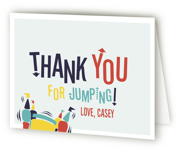 Jump Around! Children's Birthday Party Thank You Cards